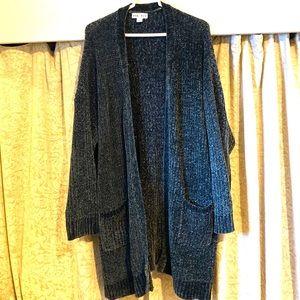Ava&Viv Chenille Long Knit Sweater Cardigan